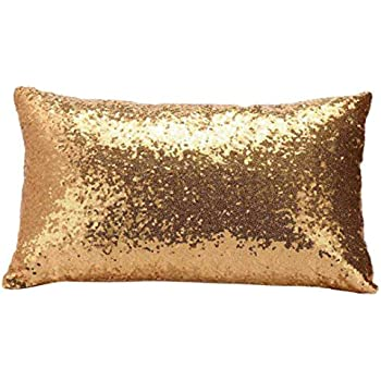 Amazon Com Gbsell Pillow Cover Glitter Sequins Rectangle