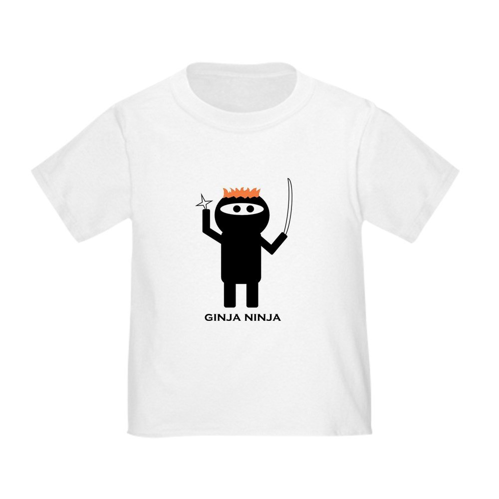 b63e2656a7 Amazon.com: CafePress - ginja ninja 1 T-Shirt - Cute Toddler T-Shirt, 100%  Cotton White: Clothing