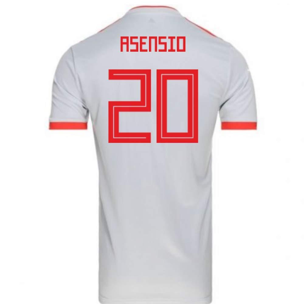 独特の上品 2018-2019 Spain Away Adidas Football Shirt (Marco (Marco Asensio Large 20) Chest B07H9S8CK1 Large 42-44