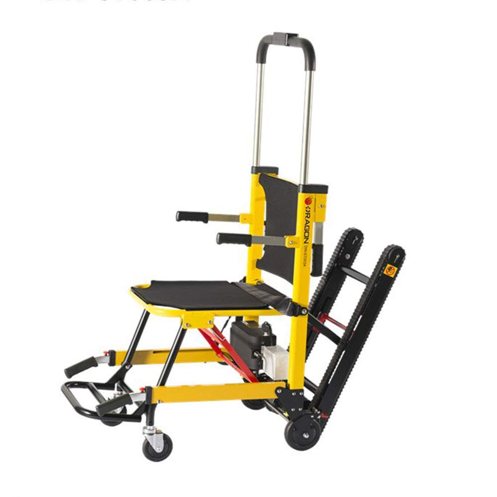 QETU Electric EMS Evacuation Stair Chair - Crawler Foldable Electric Climbing Stair Wheelchair Bearing The Weight of 350 Lbs by QETU