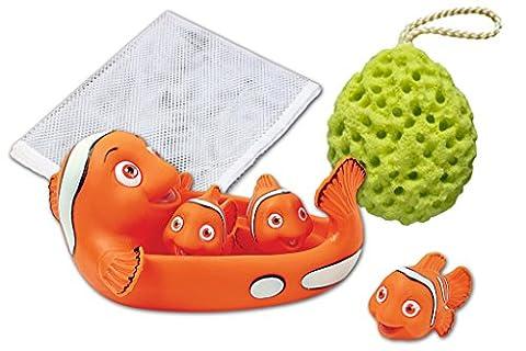 Rubber Clown Fish Family Bath Toy Set - 7