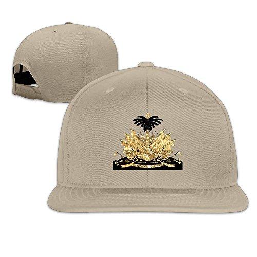 F5sw Caps Haiti Coat Of Arms Unisex Cotton Flat Baseball Cap Adjustable Flat Bill (Haiti Coat)