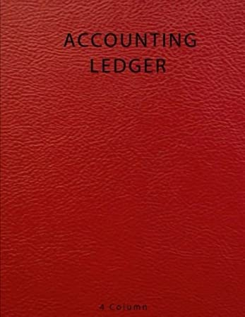 amazon accounting ledger 4 column bookkeeping record book account