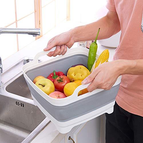 - hbz11hl Portable Square Fruit Vegetable Washing Washbasin Folding Sink Drain Basket