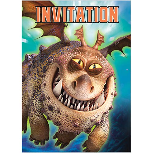 Unique How to Train Your Dragon Party Invitations, 1 Pack]()