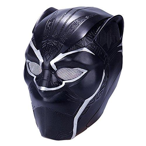 Las Vegas Lights (Trippy Lights 2018 Black Panther Movie T'Challa Superhero Latex Costume Mask Helmet)