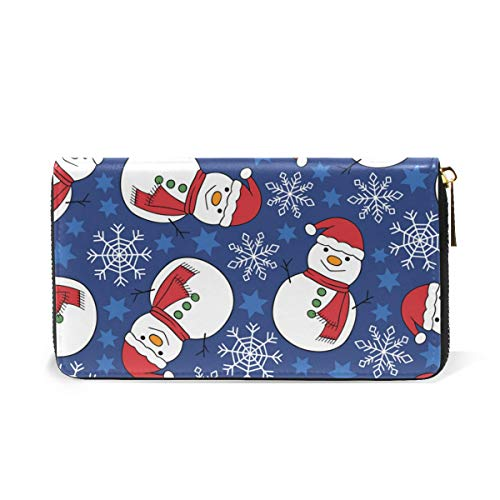 And Snowflake Wallet Around TIZORAX Clutch Snowman Handbags Womens Organizer Zip Purses Ug5qPnwfY