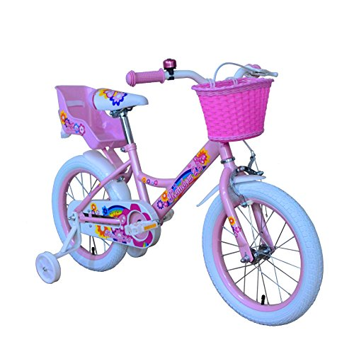 OTLIVE Girls Bikes 16 inch with Training Wheels and Basket P