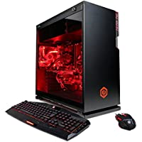 CYBERPOWERPC Gamer Supreme SLC8620A Gaming PC (Intel i7-7800X 3.5GHz, NVIDIA GeForce GTX 1070 8GB, 16GB RAM, 2TB HDD, 240GB SSD, WiFi, Liquid Cool & Win10) Black