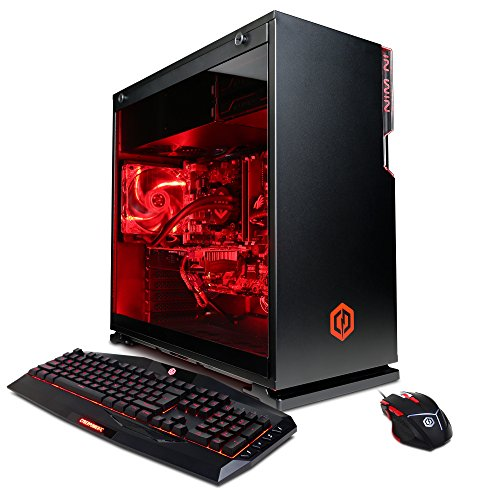 Price comparison product image CYBERPOWERPC Gamer Supreme SLC8620A Gaming PC (Intel i7-7800X 3.5GHz, NVIDIA GeForce GTX 1070 8GB, 16GB RAM, 2TB HDD, 240GB SSD, WiFi, Liquid Cool & Win10) Black