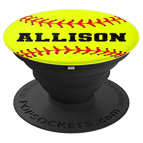 ALLISON Softball Catcher & Pitcher Personalized Name Gift - PopSockets Grip and Stand for Phones and Tablets ()