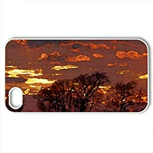 After Sunset - Case Cover for iPhone 4 and 4s (Sunsets Series, Watercolor style, White)
