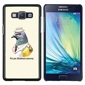 KLONGSHOP // Cubierta de piel con cierre a presión Shell trasero duro de goma Protección Caso - Divertido Birdman - Samsung Galaxy A5 A5000 //