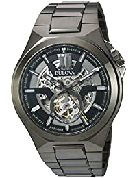 Men's Automatic Stainless Steel Casual Watch, Color:Grey (Model: 98A179)