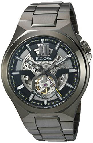 Bulova Men's Automatic-self-Wind Watch with Stainless-Steel Strap, Grey, 27 (Model: 98A179) ()