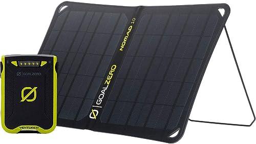 side facing goal zero venture 30 solar kit