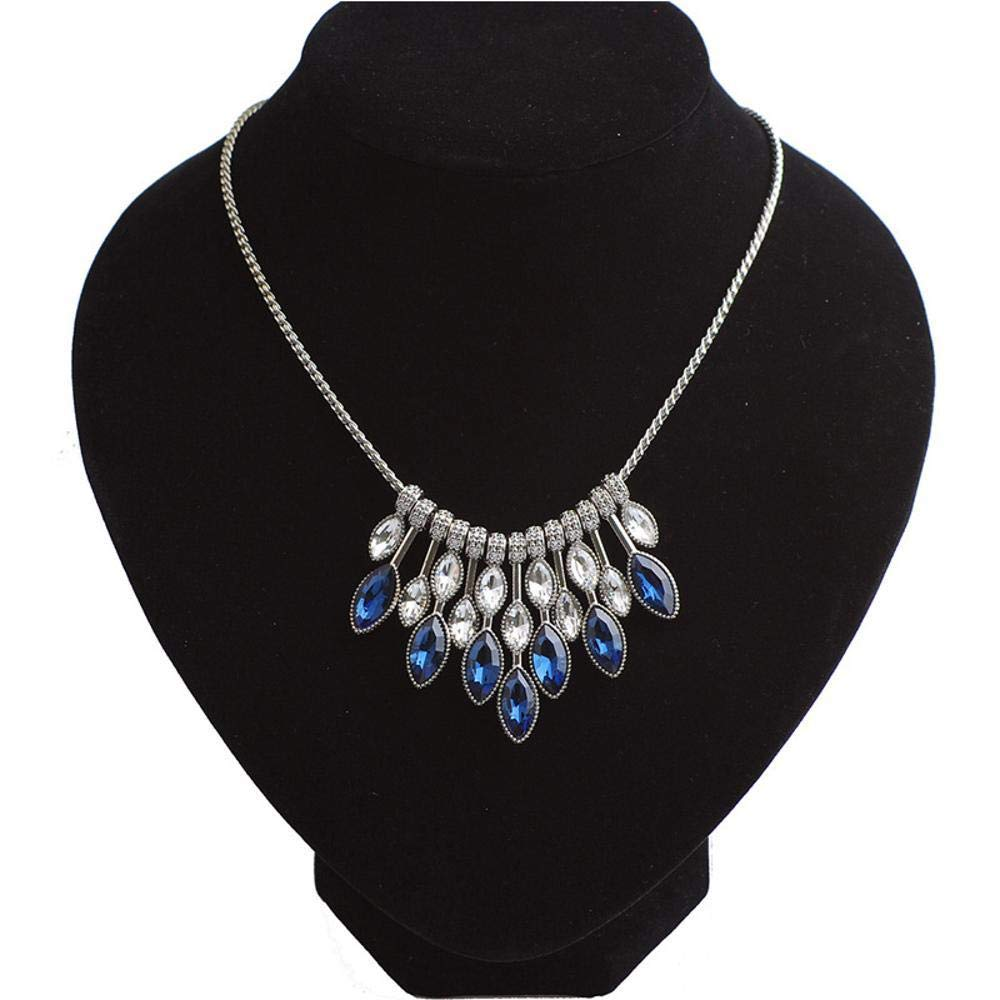 45cm+5cm cushang Mens Pendant Sapphire Metal Necklace Fashion Alloy Item Ornament Necklace Circumference