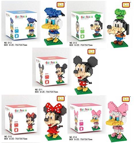 Disney Nanoblock Micro Building Blocks Mickey - Minnie - Donald - Goofy - Daisy