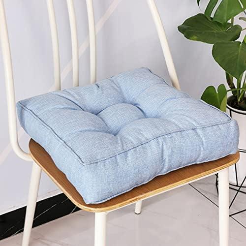 Smile Diary Soft Seat Cushion Square Cushions Floor Tatami Chair Sofa Home Decor Thickening Garden Chair Cushion(R,40X40X9cm/15.7415.743.54in)