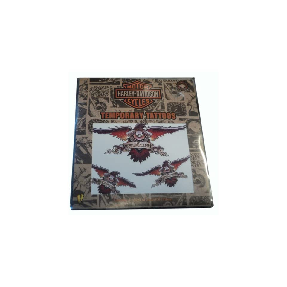 Harley Davidson Motorcycles Temporary Tattoos   Contains 1 Sheet of Assorted Tattoos
