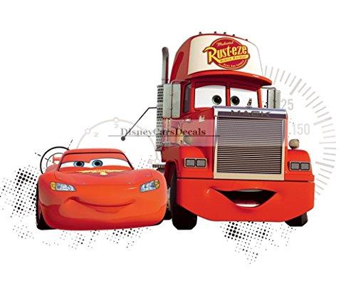 10 Inch Lightning McQueen 95 Mack Truck Disney Pixar Cars 2 Movie Removable Wall Decal Sticker Art Home Racing Decor