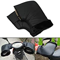 AUDEW Pair Waterproof Motorcycle Grip HandleBar Muff Winter Warmer Thermal Cover Glove