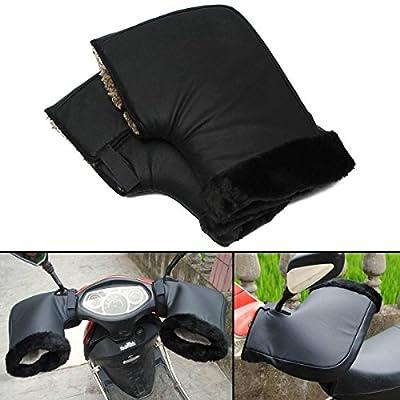AUDEW Pair Waterproof Motorcycle Grip HandleBar Muff Winter Warmer Thermal Cover Glove