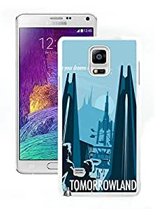 disneyland posters For Samsung Note 4 White TPU Case Cover