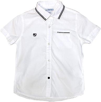 Mayoral 3129 FS19 - Camisa de Manga Corta para niño, Color Blanco: Amazon.es: Ropa y accesorios