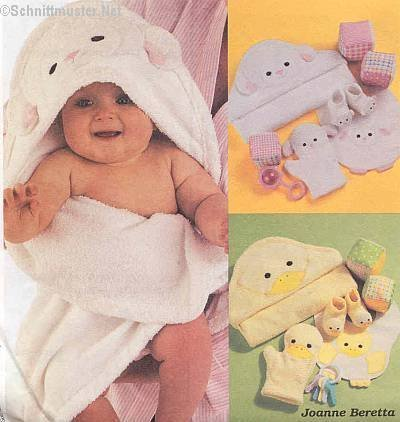 McCall's Crafts Pattern 3697 ~ Baby Room (Hooded Towel Patterns)