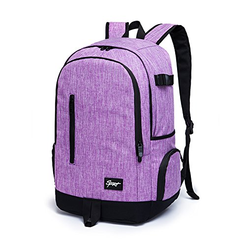 Ricky-H Stylish Pattern Multi-Purpose Purple Backpack for College Women,Fits Laptop up to 15.6
