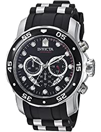 Men's 'Pro Diver' Swiss Quartz Stainless Steel and Polyurethane Sport Watch, Color:Black (Model: 6977)