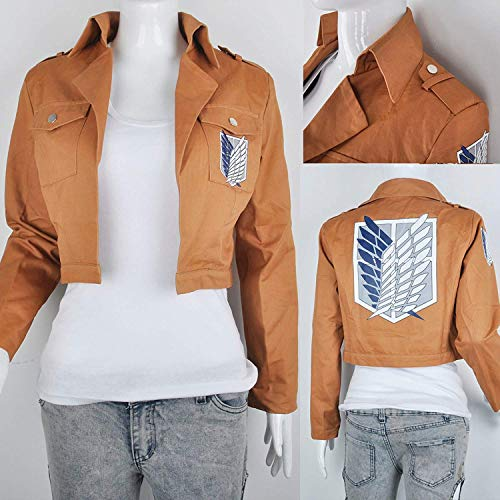 OLSUS Halloween Attack on Titan Shingeki no Kyojin Scouting Jacket Yeager Cosplay -