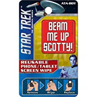 Ata-Boy Star Trek Reusable Phone and Tablet Screen Wipe, Beam Me Up Scotty!