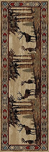 Mayberry Rugs AD8001 Rustic Lodge Deer - 2'3'' x7'7 by Mayberry Rugs