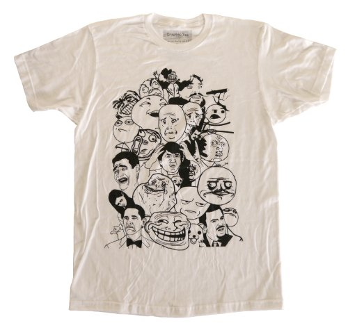 Qraphic Tee Men's Tons Of Meme Characters Fitted