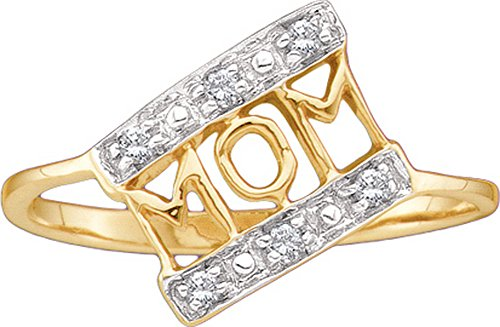 Diamond 10kt Yellow Accent Ring - 1