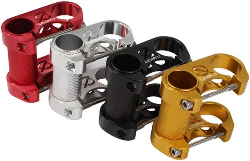 DIYARTS Bike Handle Bar Extender Aluminum Alloy Double Stem Riser Folding Bicycle handlebar Stem Suitable for 25.4mm Diameter Bicycle Straight Handle Caliber Silver