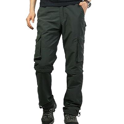 Oberora-Men Classic Solid Color Multi-Zipper Straight-Leg Pants Loose Overalls