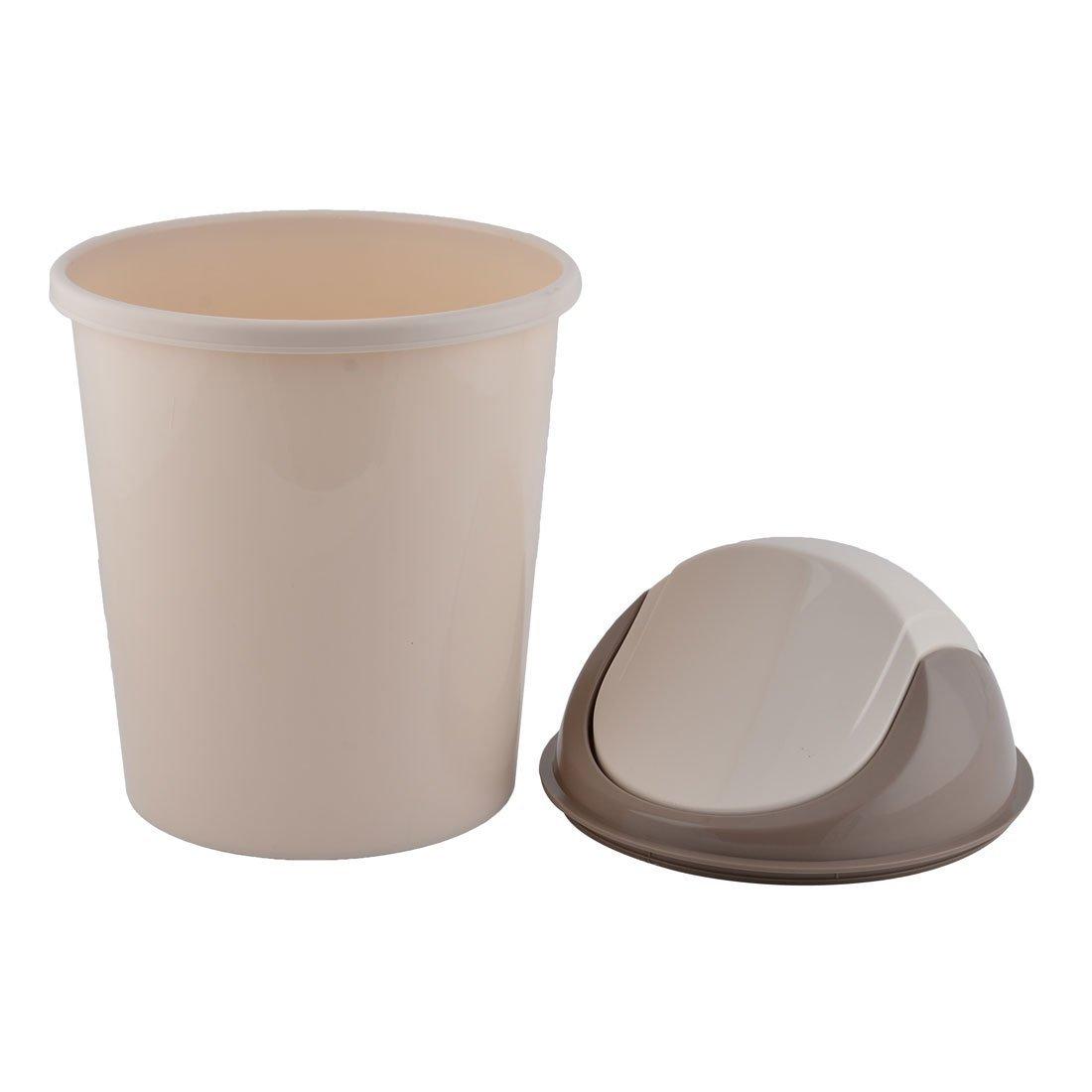 eDealMax cucina in plastica Spazzatura contenitore dei residui di bagagli Litter pattumiera Beige Color caffè
