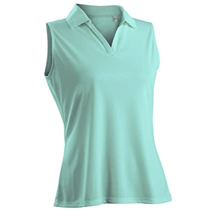 1c1a6f5dcf06a Image Unavailable. Image not available for. Color  Nancy Lopez Golf Women  Luster Sleeveless Golf Polo (Plus Size) ...