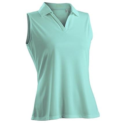 f03bd6d21eae0 Amazon.com   Nancy Lopez Golf Women Luster Sleeveless Golf Polo ...