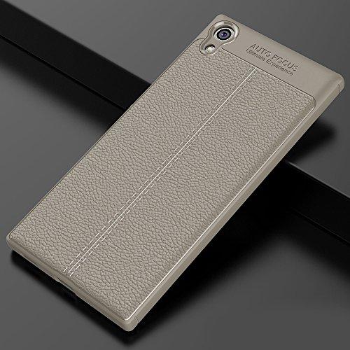 Sony Xperia XA1 Hülle, MSVII® Anti-Shock Weich TPU Silikon Hülle Schutzhülle Case Und Displayschutzfolie für Sony Xperia XA1 - Grau JY90148