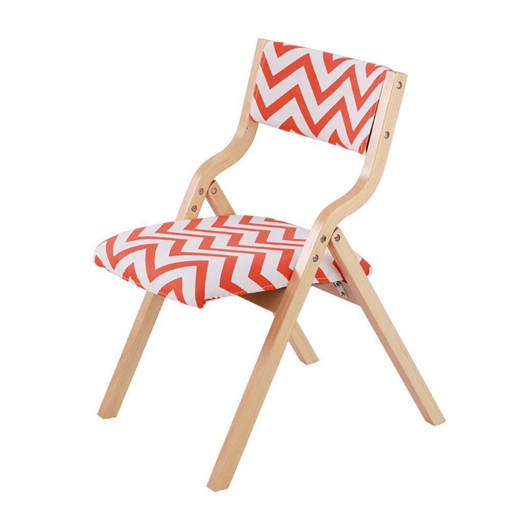 5  Chair Wooden Folding Chair Fabrics Household Dining Chair Office Backrest Chair Computer Chair Portable Lounge Chair (color   7 )