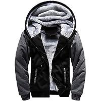 Mostsola Mens Winter Warm Hoodie Fleece Zipper Jacket Outwear Coat