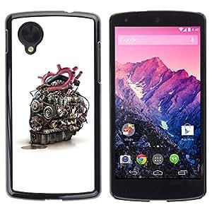 TECHCASE**Cubierta de la caja de protección la piel dura para el ** LG Google Nexus 5 D820 D821 ** Engine Heart