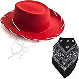 Costume Hat - Cowboy Hat - Cowboy Costume - Cowgirl Hats w/Paisley Bandana by Funny Party Hats