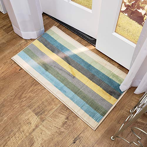 Maxy Home Adaline Stripes Soft Cut Pile Non Slip 18