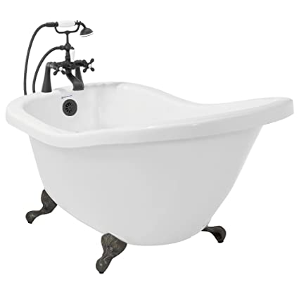 acrylic clawfoot tub package. American Bath Factory P7 CT1B OB Chelsea Acrylic Clawfoot Tub With Deck  Mount Faucet