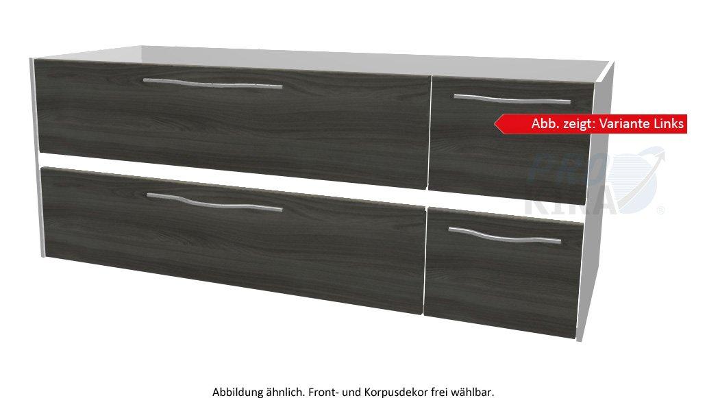 PELIPAL SOLITAIRE 6010 Waschtischunterschrank inkl. LED / WTUSLB 06/07 / Comfort N / 132x51,2x49,3cm